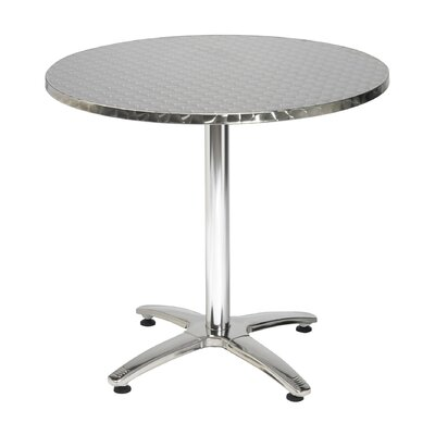 28 Round Pedestal Table with X Base