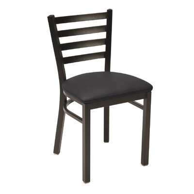 3316 Series Ladder Back Side Chair Upholstery: Fabric - Black