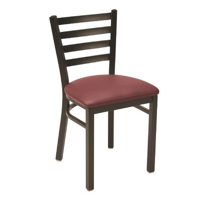 3316 Series Upholstered Dining Chair Color: Fabric Burgundy