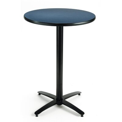 30 Round Pedestal Table Color: Graphite Nebula, Size: 42H x 30W