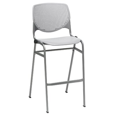 Lundell 30 Bar Stool Upholstery: Light Gray