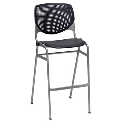 Lundell 30 Bar Stool Upholstery: Black