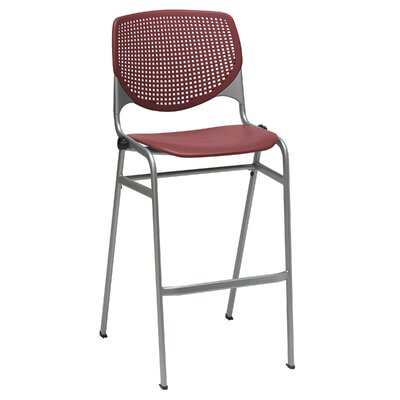 Lundell 30 Bar Stool Upholstery: Burgundy