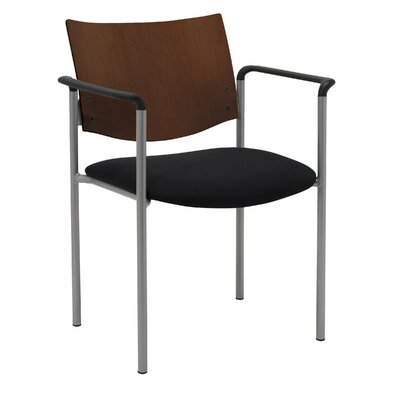 Evolve Guest Chair Frame Finish: Natural, Seat Finish: Navy Vinyl