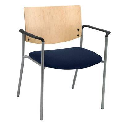 Evolve Big and Tall Guest Chair Seat Finish: Navy, Frame Finish: Natural
