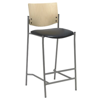 Evolve 25 Bar Stool Upholstery: Black, Finish: Chocolate