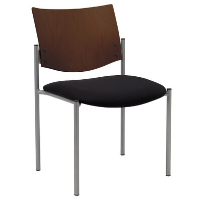 Evolve Armless Guest Chair Seat Finish: Black, Frame Finish: Chocolate
