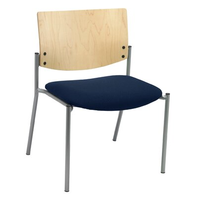 Evolve Big and Tall Armless Guest Chair Seat Finish: Navy, Frame Finish: Natural