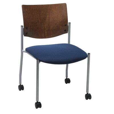 Evolve Armless Guest Chair Seat Finish: Navy, Frame Finish: Chocolate