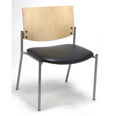 Evolve Big and Tall Armless Guest Chair Seat Finish: Black Vinyl, Frame Finish: Natural