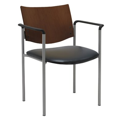Evolve Guest Chair Frame Finish: Chocolate, Seat Finish: Black Vinyl
