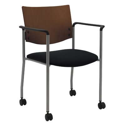 Evolve Guest Chair Seat Finish: Black, Frame Finish: Chocolate