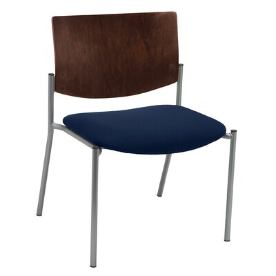 Evolve Big and Tall Armless Guest Chair Seat Finish: Navy Vinyl, Frame Finish: Natural