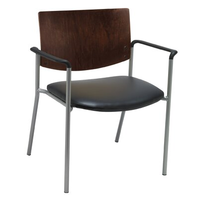 Evolve Big and Tall Guest Chair Seat Finish: Black  Vinyl, Frame Finish: Chocolate
