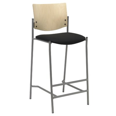 Evolve 25 Bar Stool Upholstery: Black, Finish: Natural