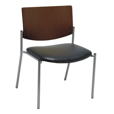 Evolve Big and Tall Armless Guest Chair Seat Finish: Black Vinyl, Frame Finish: Chocolate