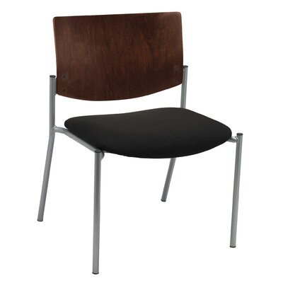 Evolve Big and Tall Armless Guest Chair Seat Finish: Black, Frame Finish: Chocolate