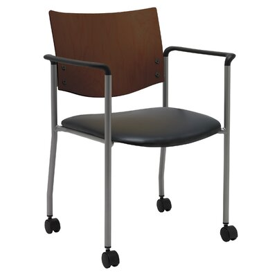 Evolve Guest Chair Seat Finish: Black Vinyl, Frame Finish: Chocolate