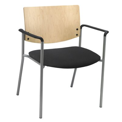 Evolve Big and Tall Guest Chair Seat Finish: Black, Frame Finish: Natural