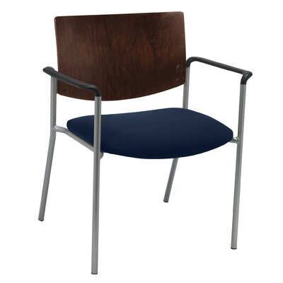 Evolve Big and Tall Guest Chair Seat Finish: Navy, Frame Finish: Chocolate