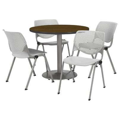 Round Cafeteria Table and Chair Set