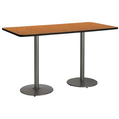 72 x 30  Round Base Pedestal Table Top Finish: Medium Oak, Size: 42 H x 30 W x 72 L