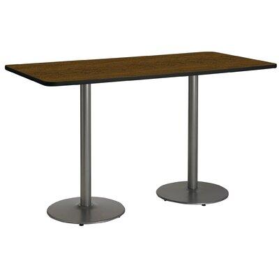 72 x 30  Round Base Pedestal Table Top Finish: Walnut, Size: 42 H x 30 W x 72 L