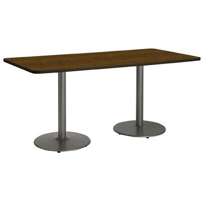 72 x 30  Round Base Pedestal Table Size: 29 H x 30 W x 72 L, Top Finish: Walnut