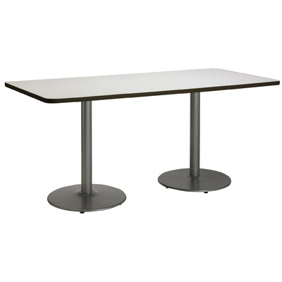 72 x 30  Round Base Pedestal Table Size: 29 H x 30 W x 72 L, Top Finish: Grey Nebula