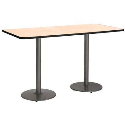 72 x 30  Round Base Pedestal Table Top Finish: Natural, Size: 42 H x 36 W x 72 L