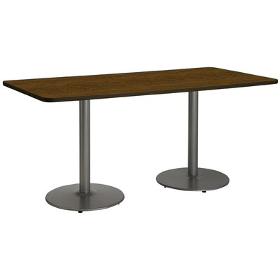 72 x 30  Round Base Pedestal Table Top Finish: Walnut, Size: 29 H x 36 W x 72 L