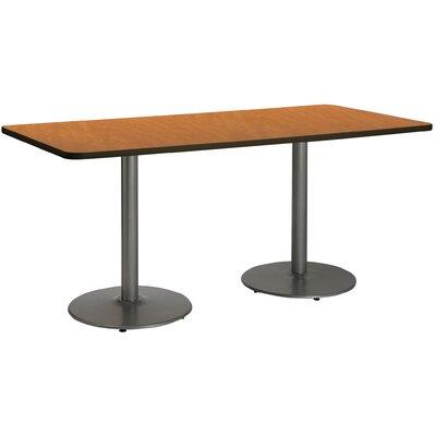 72 x 30  Round Base Pedestal Table Top Finish: Medium Oak, Size: 29 H x 36 W x 72 L