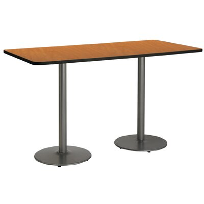 72 x 30  Round Base Pedestal Table Top Finish: Medium Oak, Size: 42 H x 36 W x 72 L