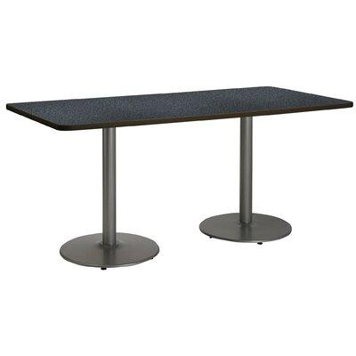 72 x 30  Round Base Pedestal Table Top Finish: Graphite Nebula, Size: 29 H x 30 W x 72 L