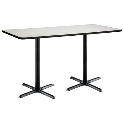 72 x 30  X-Base Pedestal Table Top Finish: Crisp Linen, Size: 42 H x 36 W x 72 L, Base Finish: Black