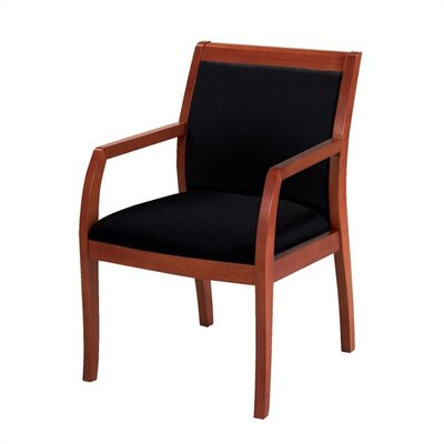 Guest Chair Fabric: Black, Frame Type: Diamond Back