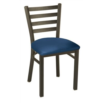 3316 Series Upholstered Dining Chair Color: Vinyl Navy
