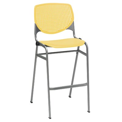 Lundell 30 Bar Stool Upholstery: Yellow