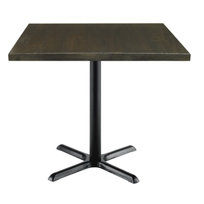 Urban Loft 42 Square Cafe Table Top Finish: Espresso Vintage, Size: 29 H x 36 W  36 D