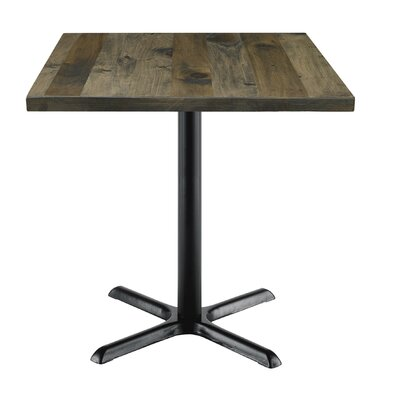 Urban Loft 42 Square Cafe Table Top Finish: Barnwood Vintage, Size: 29 H x 30 W  30 D