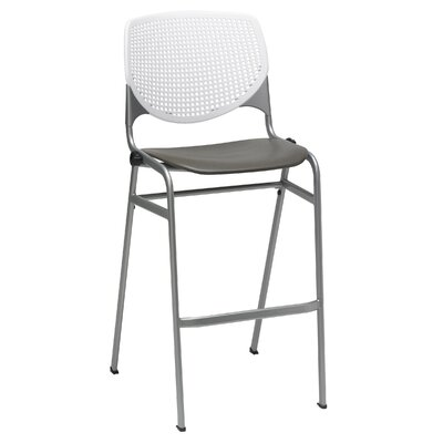 Lundell 30 Bar Stool Color: White/Brownstone
