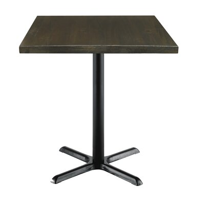 Urban Loft 42 Square Cafe Table Top Finish: Espresso Vintage, Size: 36 H x 30 W  30 D