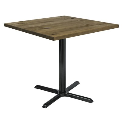 Urban Loft 42 Square Cafe Table Top Finish: Natural Vintage, Size: 36 H x 42 W  42 D