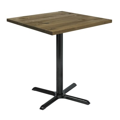 Urban Loft 42 Square Cafe Table Top Finish: Natural Vintage, Size: 41 H x 36 W  36 D