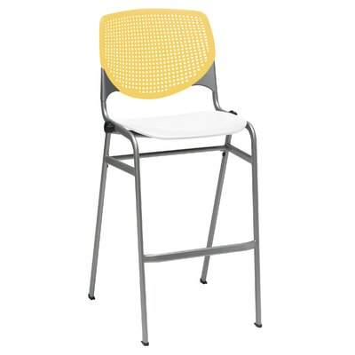 Lundell 30 Bar Stool Color: Yellow/White