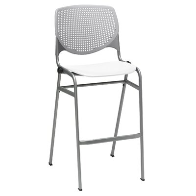 Lundell 30 Bar Stool Color: Light Gray/White