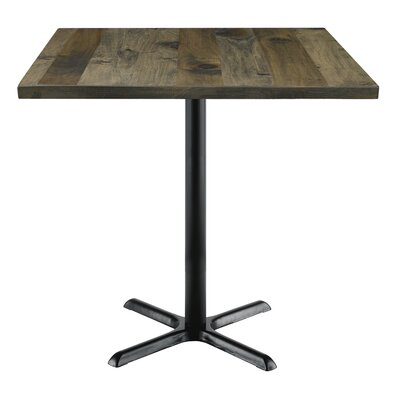 Urban Loft 42 Square Cafe Table Top Finish: Barnwood Vintage, Size: 41 H x 42 W  42 D