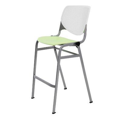Lundell 30 Bar Stool Color: White/Lime Green