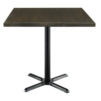 Urban Loft 42 Square Cafe Table Top Finish: Espresso Vintage, Size: 36 H x 36 W  36 D