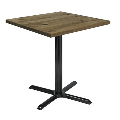 Urban Loft 42 Square Cafe Table Top Finish: Natural Vintage, Size: 36 H x 30 W  30 D